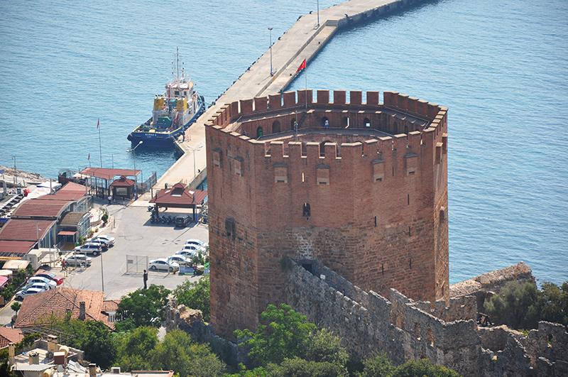 Крепость Алании, Красная башня, Кызыл Куле